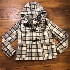 Old Navy Plaid Peacot